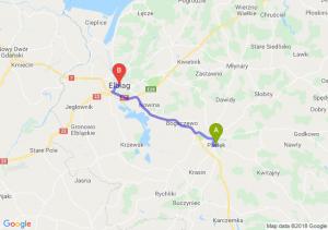 Trasa Pasłęk - Elbląg