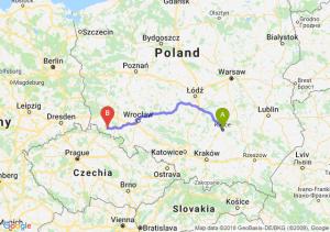 Trasa Kielce - Jelenia Góra
