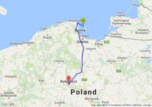 Jastarnia (pomorskie) - Bydgoszcz (kujawsko-pomorskie)