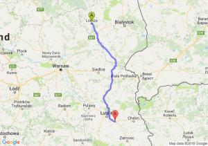 Trasa Łomża - Piaski