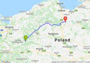 Trasa Drezdenko - Kwidzyn
