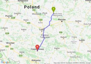 Trasa Płońsk - Częstochowa