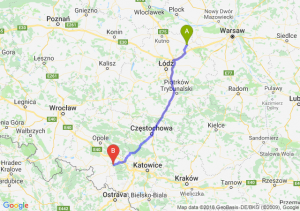Trasa Łowicz - Kędzierzyn-Koźle