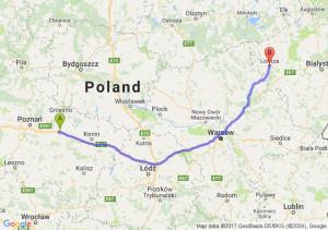 Trasa Września - Łomża