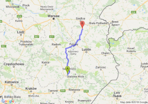 Trasa Tarnobrzeg - Łuków