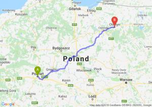 Trasa Poznań - Olsztyn