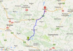 Trasa Opole - Sieradz