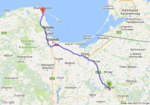 Ostróda (warmińsko-mazurskie) - Puck (pomorskie)