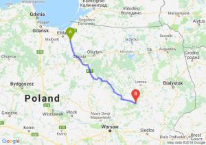 Trasa Pasłęk - Ostrów Mazowiecka