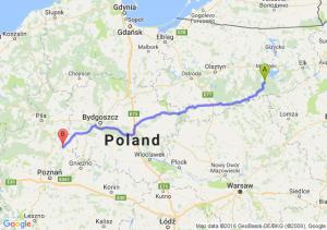 Ruciane-Nida (warmińsko-mazurskie) - Wągrowiec (wielkopolskie)