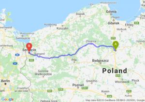 Trasa Grudziądz - Szczecin