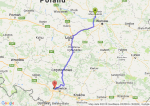 Trasa Nowy Dwór Mazowiecki - Zabrze