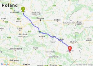 Trasa Płock - Zamość