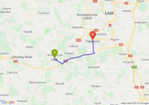 Trasa Łask - Pabianice