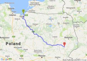 Tolkmicko (warmińsko-mazurskie) - Brańsk (podlaskie)