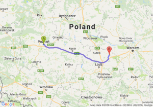 Trasa Poznań - Łowicz
