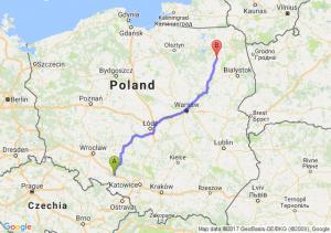 Trasa Dąbrówka Górna - Szczuczyn