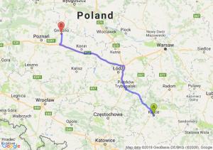 Trasa Kielce - Gniezno