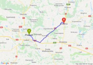 Trasa Poznań - Gniezno