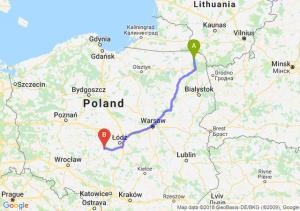 Trasa Suwałki - Sieradz