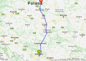 Trasa Katowice - Lipno