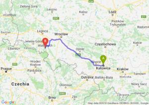 Trasa Katowice - Wałbrzych