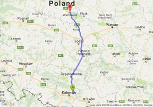 Trasa Dąbrowa Górnicza - Włocławek