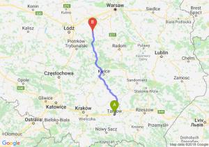 Trasa Tarnów - Rawa Mazowiecka