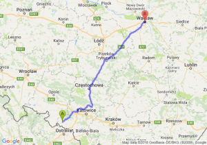 Trasa Racibórz - Warszawa