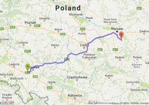 Trasa Kąty Wrocławskie - Góra Kalwaria
