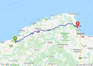 Trasa Koszalin - Gdynia