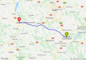 Trasa Piotrków Trybunalski - Sieradz