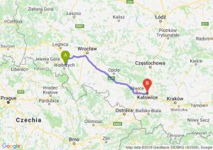 Trasa Świebodzice - Katowice