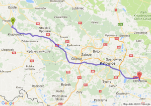 Trasa Dąbrówka Górna - Chrzanów
