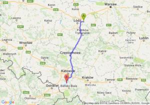 Trasa Brzeziny - Pszczyna