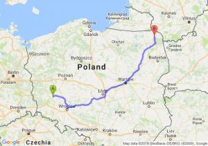 Trasa Głogów - Suwałki