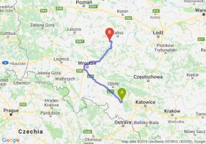 Trasa Kędzierzyn-Koźle - Ostrów Wielkopolski
