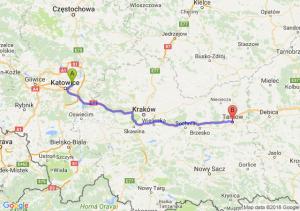 Trasa Sosnowiec - Tarnów