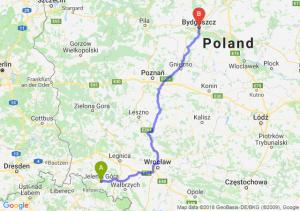 Trasa Jelenia Góra - Bydgoszcz