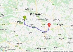 Trasa Gniezno - Łowicz