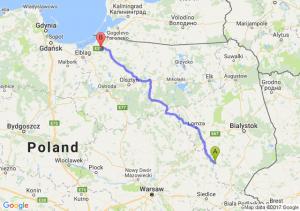 Trasa Ciechanowiec - Chruściel