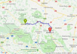 Trasa Jelenia Góra - Wałbrzych