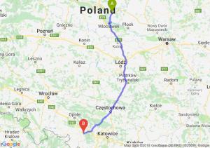 Trasa Lipno - Kędzierzyn-Koźle