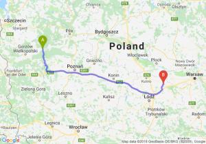 Trasa Drezdenko - Łowicz