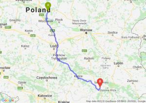 Trasa Lipno - Tarnobrzeg