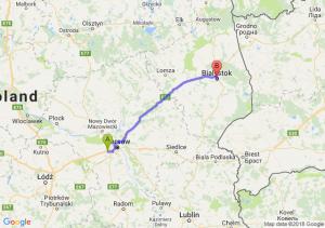 Trasa Pruszków - Białystok