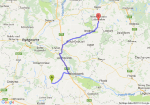 Piotrków Kujawski (kujawsko-pomorskie) - Nowe Miasto Lubawskie (warmińsko-mazurskie)