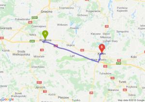 Trasa Września - Konin
