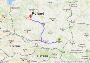 Trasa Rzeszów - Września