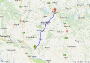 Trasa Lipno - Ostróda